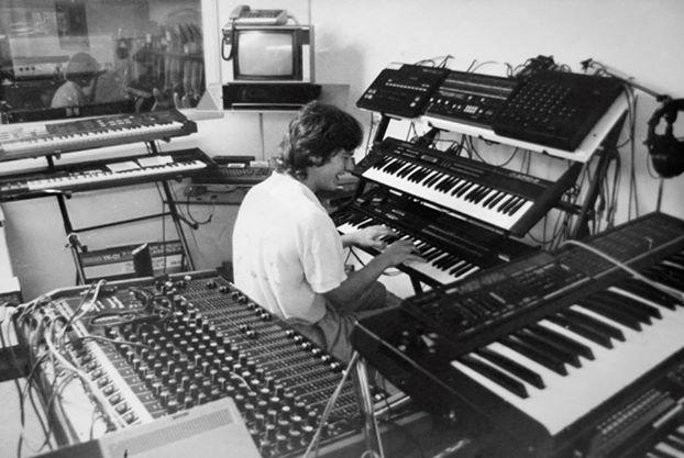 Keyboardabteilung Musikhaus Schönau ca. 1986