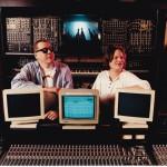 Jörg Schaaf und Klaus Schulze Moldau Musikstudio ca. 1995